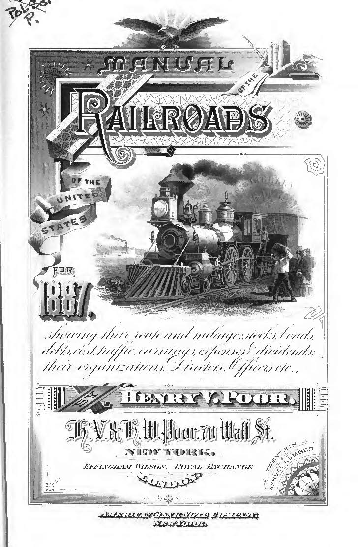 1887 POORS MANUAL OF RAILWAYS SCANNED TO CD